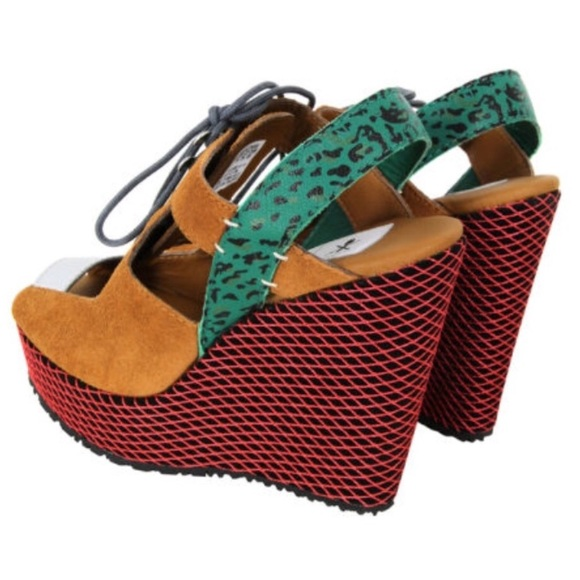 0c27fd9ceb7b adidas Shoes - Adidas Opening Ceremony Suede Wedge Sandals
